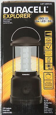 NEW DURACELL EXPLORER LED LANTERN LAMP LIGHT MODEL LNT-200US 280 LUMENS DIMMABLE