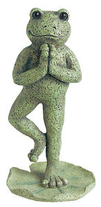 Grasslands Road-Lilypad Lane Cement Yoga Frog Outdoor Garden Statue Sculpture