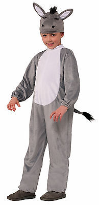 Child Biblical Nativity Donkey Animal Christmas Costume  - Donkey Costume Kids
