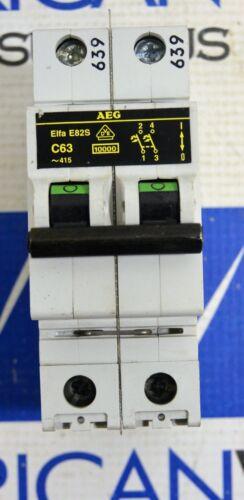 AEG Elfa 82S  C63  Din Rail Circuit Breaker 2 Pole 277/480 volt