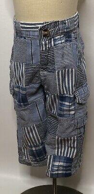Baby Gap Boys Blue Striped Cargo Patchwork Pants Sz 18-24m Baby Gap Patchwork