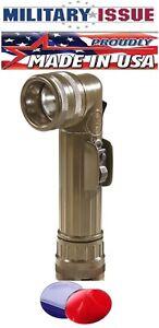 New Flashlight Olive Drab Fulton Military Issue Angle Head Flashlight MX-991/USA