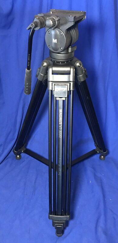 Magnus VT-300 Portable Video Camcorder Tripod With Fluid Head