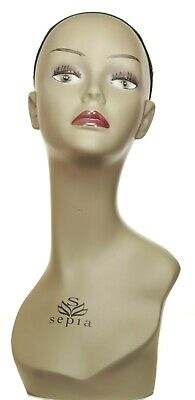 Female Mannequin Head Realistic Hat Jewelry Hair Wig Shop Display Form