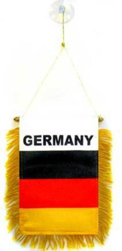Germany German Flag Hanging Car Pennant for Car Window or Rearview Mirror