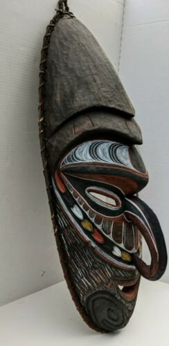 An Older Vintage Oceanic Sepik River House Mask