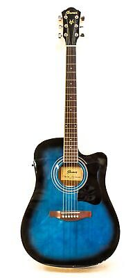 Ibanez V70CE Acoustic-Electric Guitar Transparent Blue, BLEM