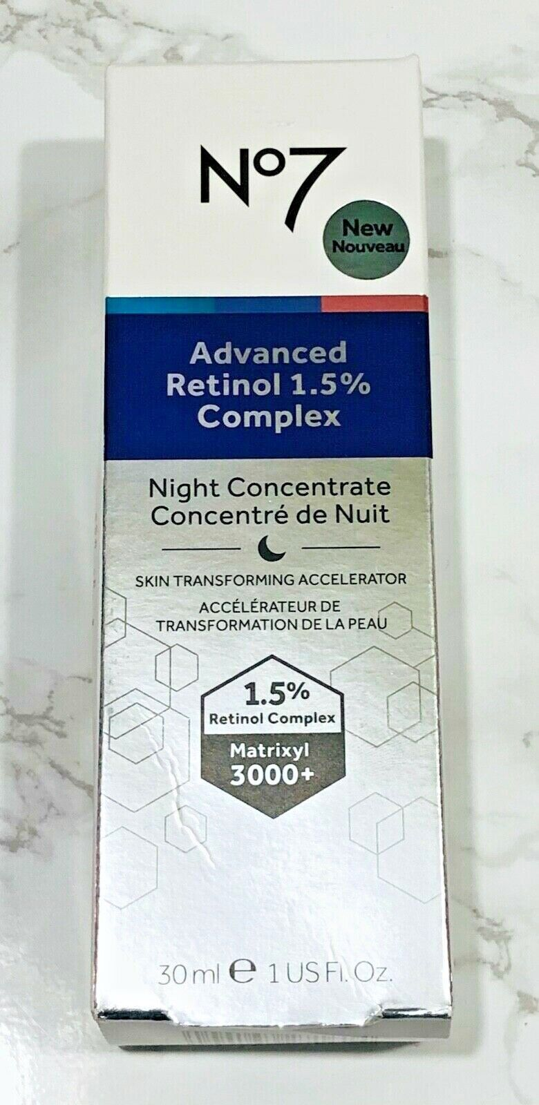 No7 Advanced Retinol 1.5% Complex Night Concentrate 1oz  NEW