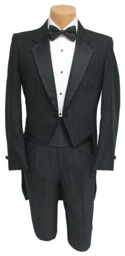 Boys Black Raffinati Tuxedo Tailcoat with Pants Vintage Retro Wedding Size 4
