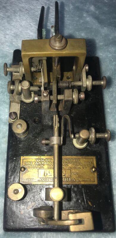 Vibroplex Double Lever Bug Key Rare, Needs Restoration Serial Number 55659 1916?