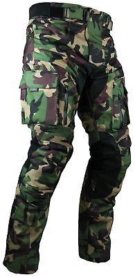 Heyberry Motorrad Hose camouflage grün sportlich mit Oberschenkeltaschen Gr. XL