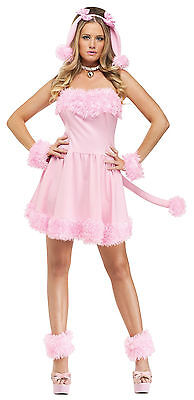 Adult Sexy Pink Pretty Poodle Animal Costume  ()