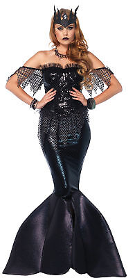 Mermaid Dark Water Siren Adult Costume Women's Black Fancy Dress Leg Avenue](Dark Mermaid Costume)