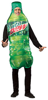 Mountain Dew Get Real Bottle Adult Costume Halloween Dress Up Over Sized Tunic - Mountain Dew Bottle Sizes
