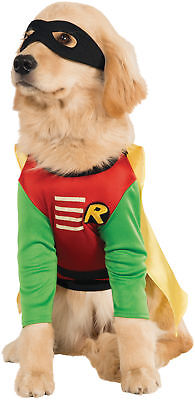 Robin Pet Costume Batman Dc Comics Teen Titans Superhero Dog Cape Shirt - Batman Robin Hunde Kostüm