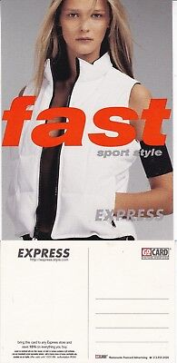 EXPRESS WORLD FAST STYLE UNUSED ADVERTISING COLOUR  POSTCARD