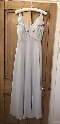 Gorgeous Jenny Yoo/Dessy Bridesmaid Dress Size 10/12 Frost/Grey