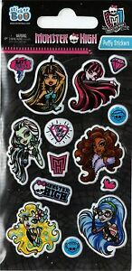 3 x Quality Sticker Sheets | MONSTER HIGH PUFFY | Party Bags & Decoration