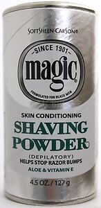 MAGIC BY SOFTSHEEN CARSON SKIN CONDITIONING SHAVING POWDER DEPILATORY 4.5 OZ.