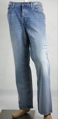 $740 Gucci Men's Light Blue Bleach Washed Vintage Denim 44R/US 28 388007 4009