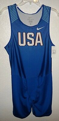 check out df382 14bf0 NWT MENS L NIKE TEAM USA US TRACK RACE SPEEDSUIT OLYMPIC ATHLETE RUN SUIT 1  PC