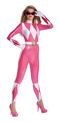 Pink Ranger Sassy Adult Womens Costume Bodysuit Power Rangers Cosplay Sexy
