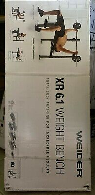 HOME GYM Weider XR 6.1 Weight Bench W Leg Developer Exercise Chart SHIPS TODAY