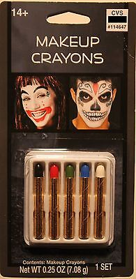 Skeleton Makeup Halloween Makeup (MAKEUP CRAYONS Costume Accessory Clown Halloween Skeleton Adult Men Women)