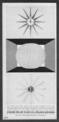 1957 George Miller Sunburst & Spoke Clocks Bubble Lamp Howard Miller print ad