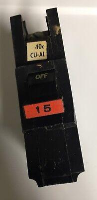 Federal Pacific Stab Lok Fat Single Pole 15 Amp Breaker Na115