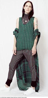 Raquel Allegra Striped Cashmere Merino Sweater Knit Skinny Lounge Pants Leggings