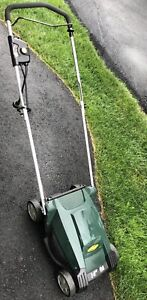 Yardworks 9A Electric Lawn Mower with Bag, 14-in