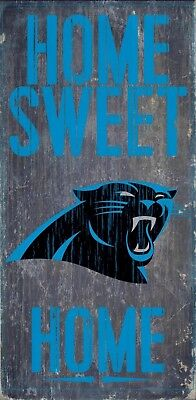 Carolina Panthers Gifts (Carolina Panthers Home Sweet Home Wood Sign - NEW 6