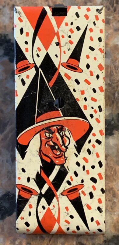 """1960's-70's Halloween Noisemaker U.S. Metal Toy 4.25"""" X 1.5"""""""