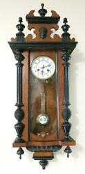 Antique Junghans Large RA German wall clock Vienna Regulator 1912