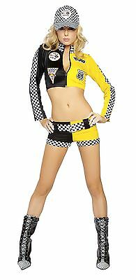 Sexy Roma Halloween Adult Women's Full Throttle Race Car Driver Costume w (Racer Kostüme Halloween)