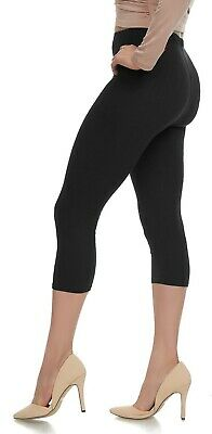 Buttery Soft Capri Leggings with High Waist - Plus Size & One Size - Many Colors