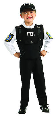 Kids FBI Agent Costume Police Law Enforcement Child Size Small 4-6](Fbi Costume)