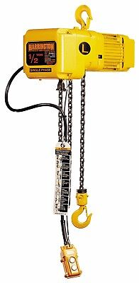 New Harrington 1 Ton Electric Chain Hoist - 3 Phase