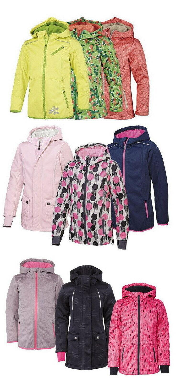 Mädchen Softshell Jacke Outdoorjacke Freizeitjacke Softshelljacke Kinder