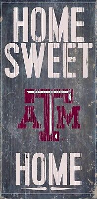 Texas A&m Decorations (Texas A&M Aggies Home Sweet Home Wood Sign - NEW 6