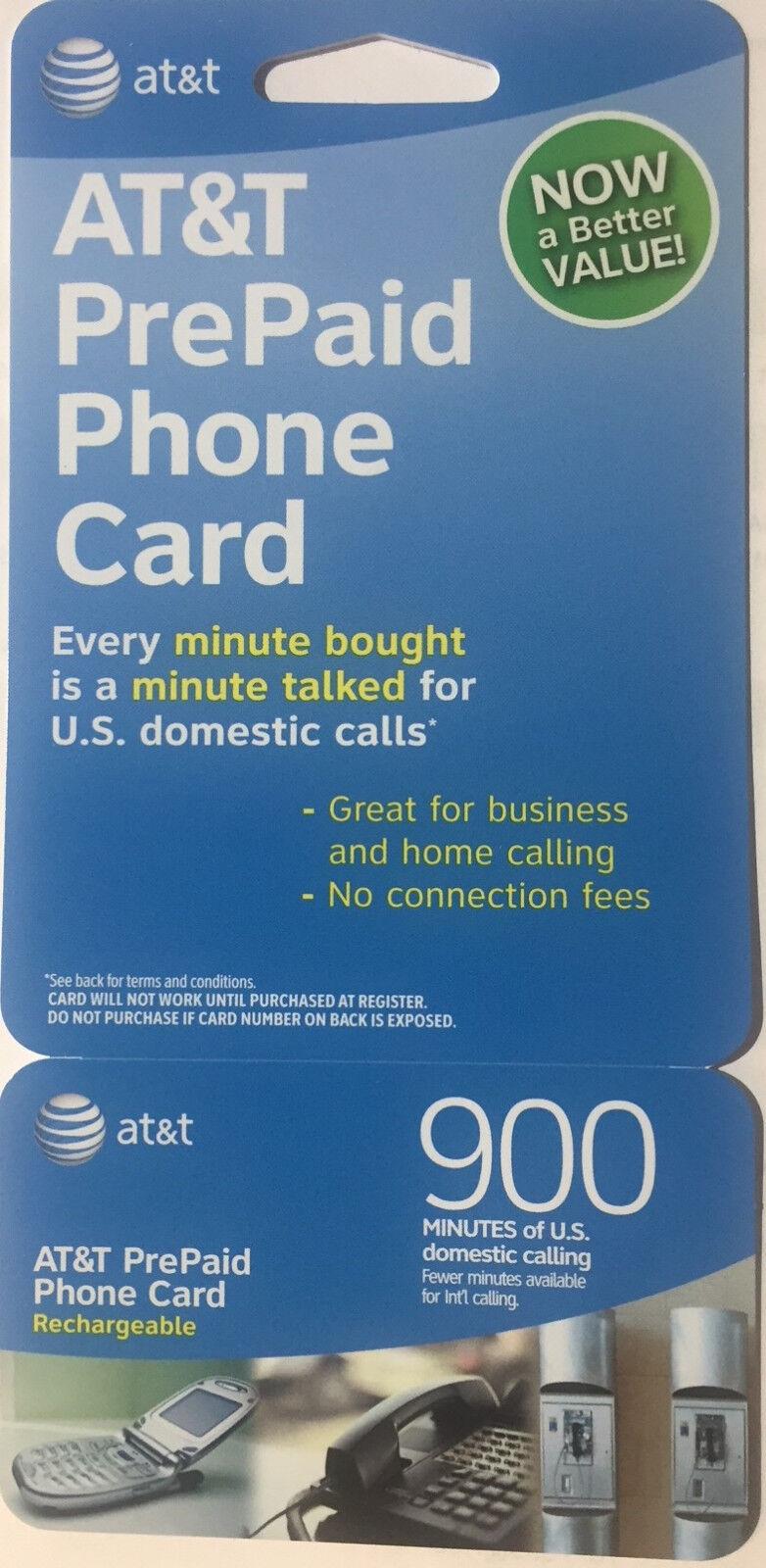 как выглядит Домашний телефон New 900 Minute A T & T PrePaid Phone Card Calling Card фото