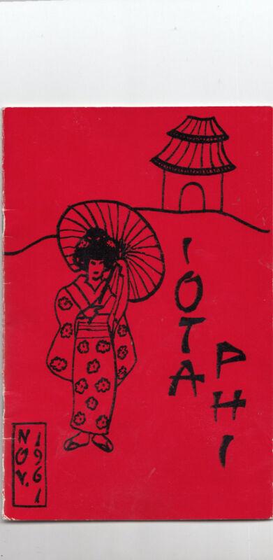 Vintage Iota Phi sorority Nov 1961
