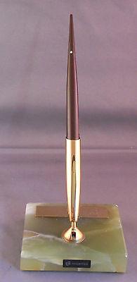 Sheaffer Green Marble Vintage Desk Set--extra Fine Cartridge Fill Pen