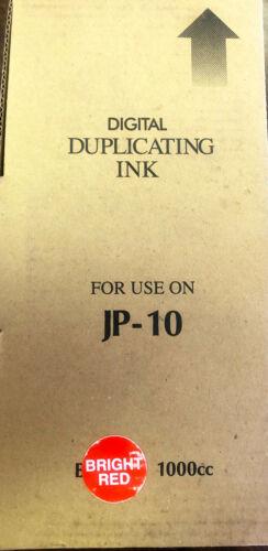 Digital Duplicating Ink for Ricoh, Gestetner- Bright Red