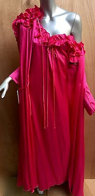 Women's nightgown and matching robe Lucie Ann of Beverly Hills NWT's, rose color