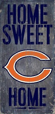 Chicago Bears Home Sweet Home Wood Sign - NEW 6