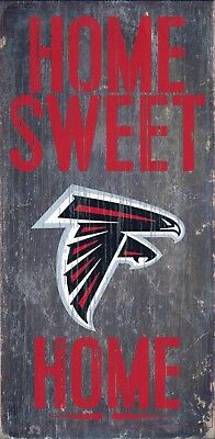 Atlanta Falcons Home Sweet Home Wood Sign - NEW 6