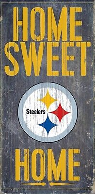 Pittsburgh Steelers Decorations (Pittsburgh Steelers Home Sweet Home Wood Sign NEW 6