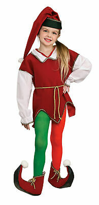 Kids Red and Green Elf Tights - Medium
